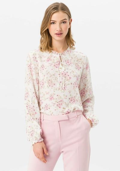 Uta Raasch Bluse aus 100% Seide in rosa / weiß, Modelansicht