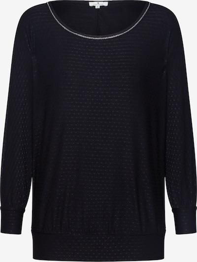 TOM TAILOR Shirt 'T-shirt structure batwing' in schwarz, Produktansicht