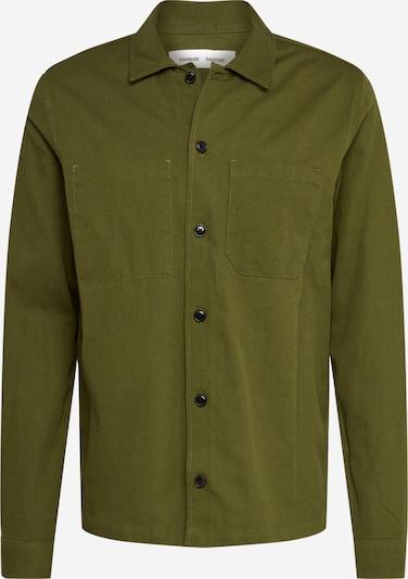 Samsoe Samsoe Overhemd 'Ruffo' in de kleur Olijfgroen, Productweergave