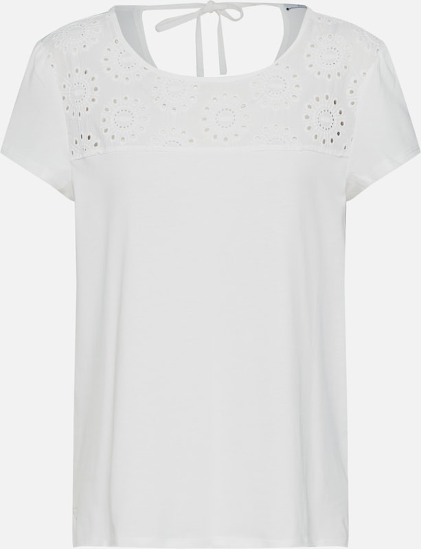 EDC BY ESPRIT Shirt 'Embro anglais T' in offwhite, Produktansicht