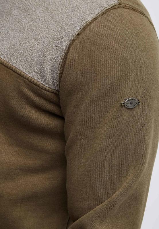 DREIMASTER Sweatshirt in grau grau grau   oliv  Neu in diesem Quartal c2de9d