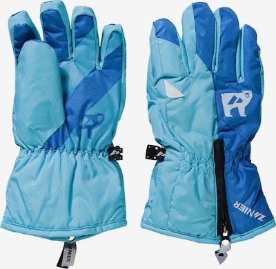 Zanier Fingerhandschuhe 'Sweety' in blau / hellblau, Produktansicht