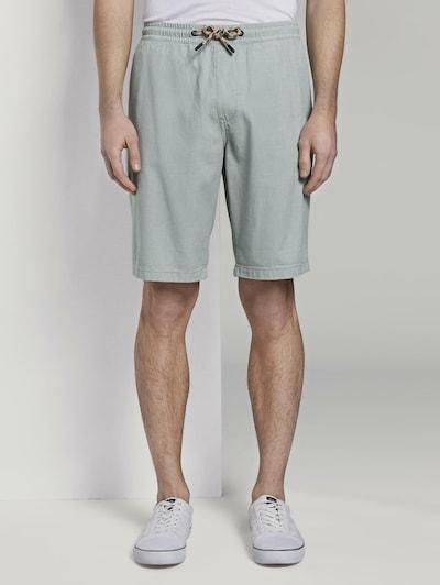 TOM TAILOR DENIM Hosen & Chino Strukturierte Shorts im Jogger-Fit in mint, Modelansicht