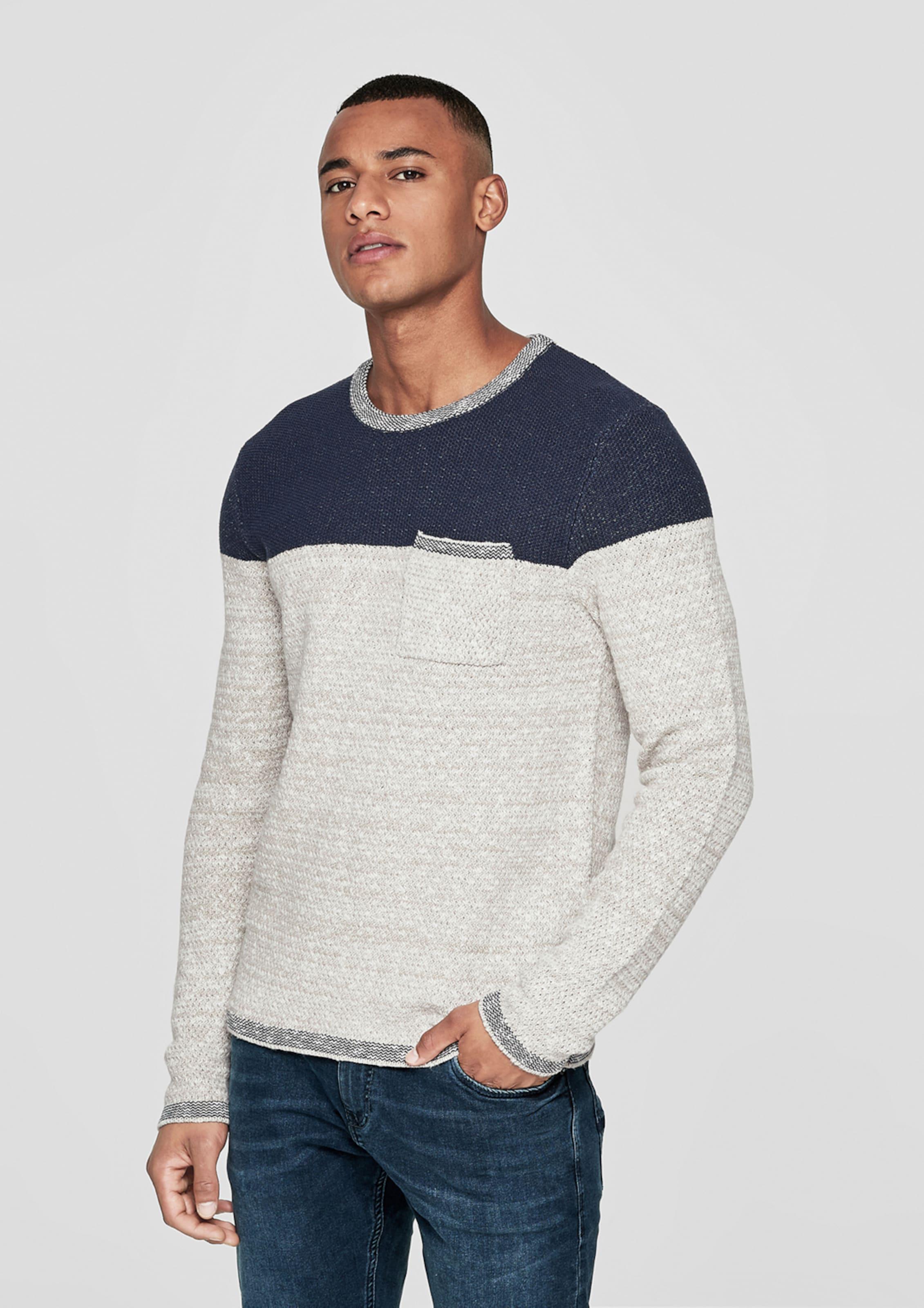 In Designed BeigeBlau Pullover By Q s kwPXZiuOT