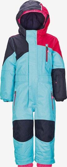 KILLTEC Skioverall 'Kesley' in türkis / nachtblau / rot, Produktansicht