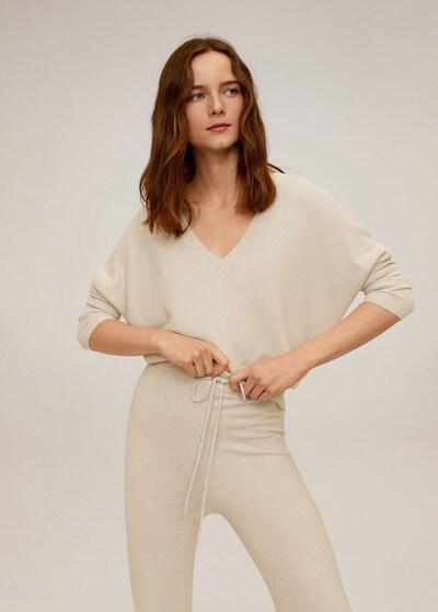 MANGO Pullover 'Milano' in beige: Frontalansicht