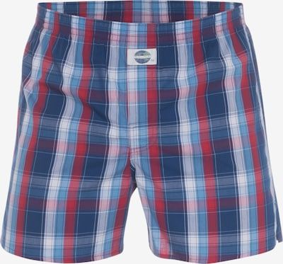 D.E.A.L International Boxershorts 'Check' in blau / rot, Produktansicht
