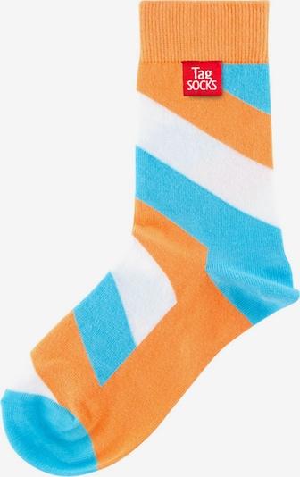 Tag SOCKS Socken 'Stars & Stripes' in hellblau / orange / weiß, Produktansicht