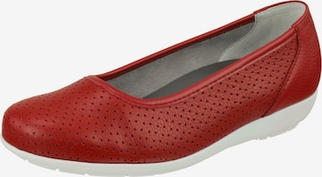 Natural Feet Ballet Flats 'Annabelle' in Red