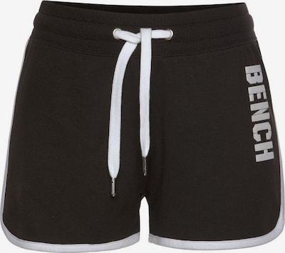 BENCH Shorts 'Contrast' in schwarz / weiß, Produktansicht