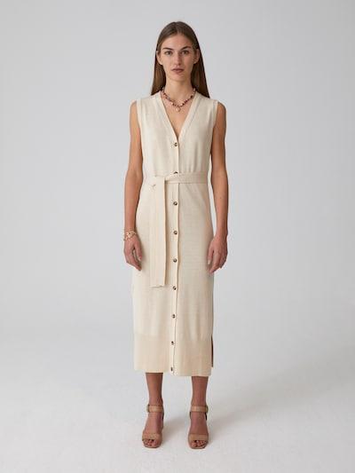 EDITED Kleid 'Maral' in beige / weiß, Modelansicht