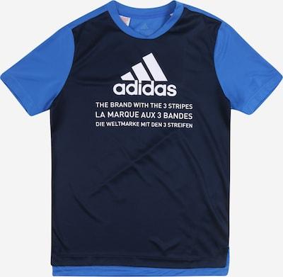 ADIDAS PERFORMANCE Funkčné tričko - modré / tmavomodrá / biela, Produkt