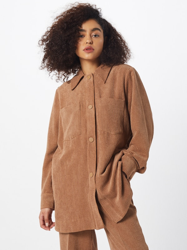 SECOND FEMALE Blazer 'Gaia Jacket' in beige, Modelansicht