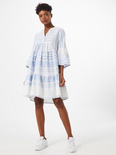 TOM TAILOR Kleid in blau / weiß, Modelansicht