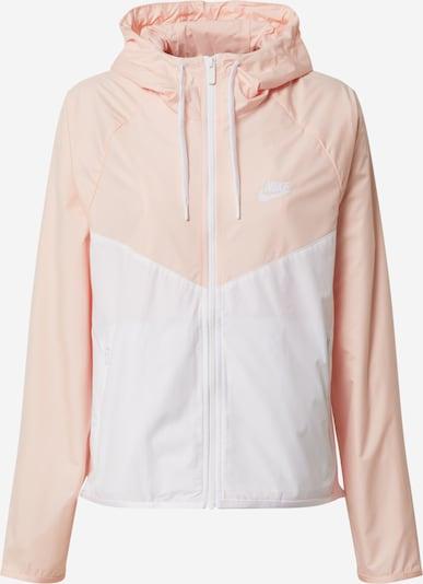 Geacă de primăvară-toamnă 'W NSW WR JKT FEM' Nike Sportswear pe roz / alb, Vizualizare produs