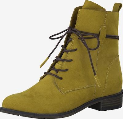 Auliniai batai su kulniuku iš MARCO TOZZI , spalva - garstyčių spalva, Prekių apžvalga