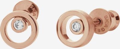 SKAGEN Ohrringe mit Glassteinen 'Elin' in rosegold / weiß, Produktansicht
