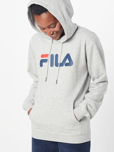 FILA Sweatshirt 'Urban Line Pure' in graumeliert / rot / weiß: Frontalansicht