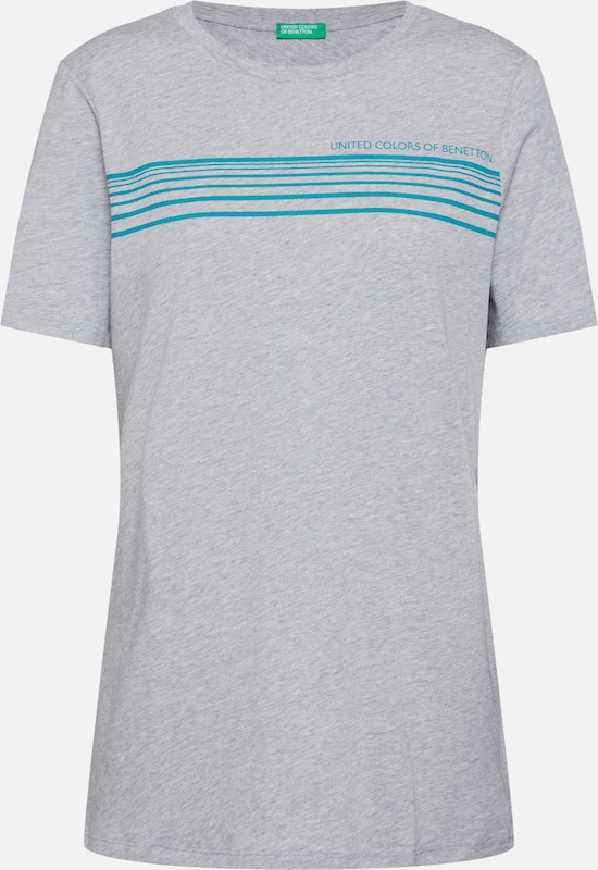 UNITED COLORS OF BENETTON Shirt in grau: Frontalansicht