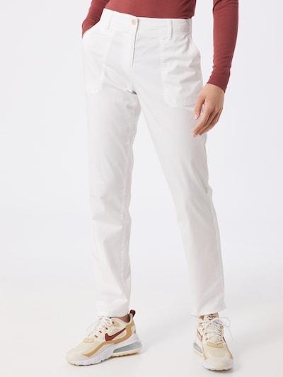BRAX Chino 'MELO' in de kleur Wit, Modelweergave