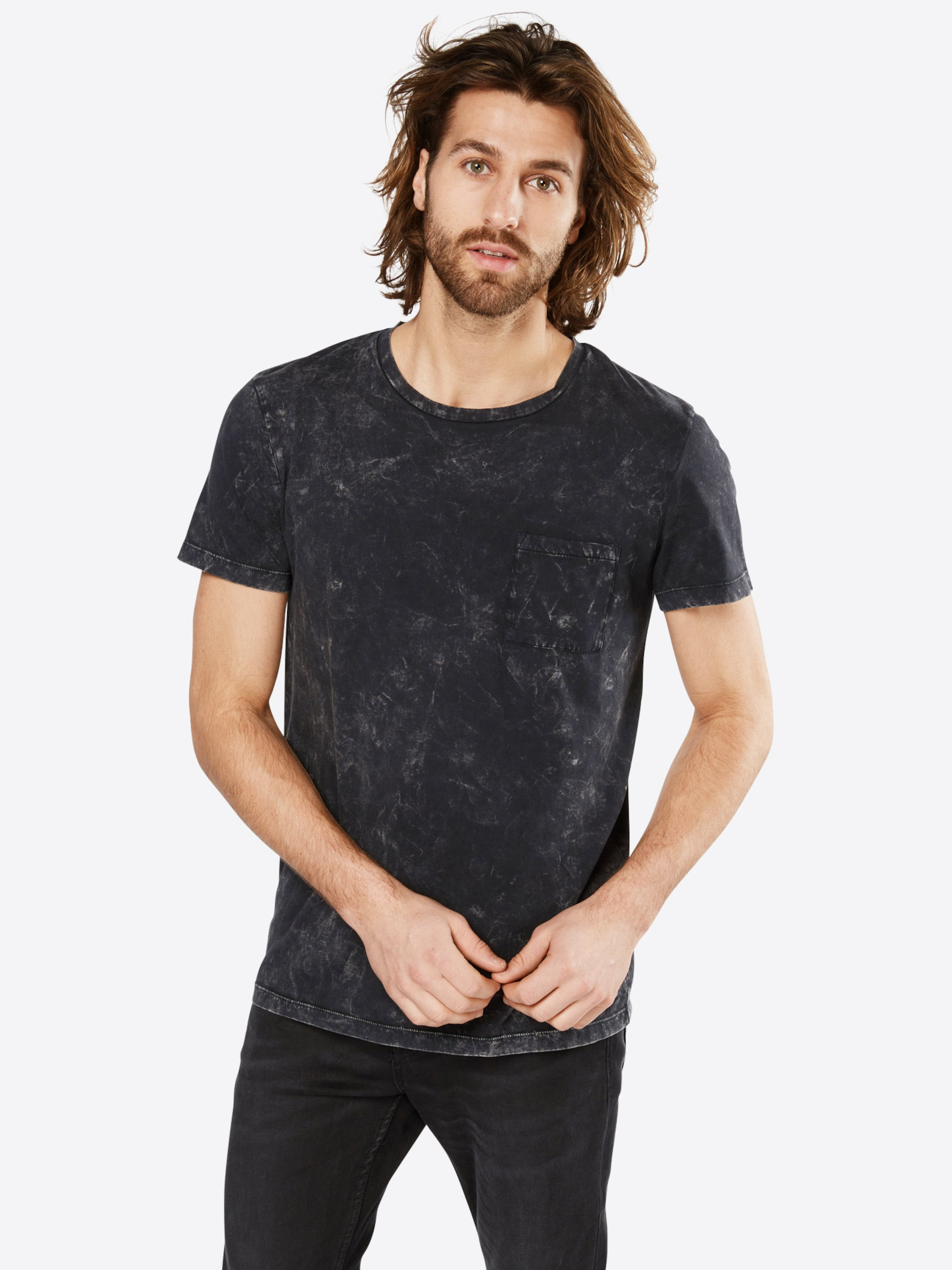 TOM TAILOR DENIM T-Shirt 'Washed tee with pocket' Günstig Kaufen Extrem hQb89Pc7HH