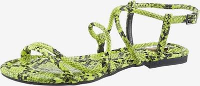 BUFFALO Sandale in neongelb / schwarz, Produktansicht