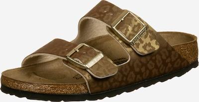 BIRKENSTOCK Pantolette 'Arizona BF W' in braun / gold, Produktansicht