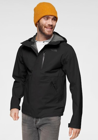 THE NORTH FACE Regenjacke 'Dryzzle FL' in schwarz: Frontalansicht