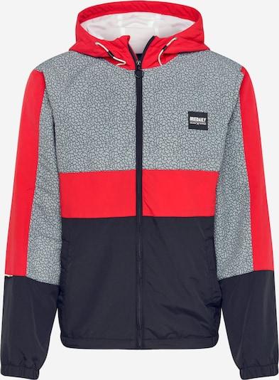 Iriedaily Jacke  'Prime' in graumeliert / rot / schwarz: Frontalansicht