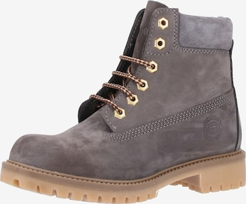 Darkwood Lace-Up Ankle Boots in Grey