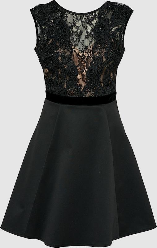 Lipsy Kleid 'schwarz FAUX PEARL LACE TOP PROM' in schwarz  Freizeit, schlank, schlank