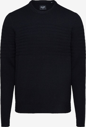 Only & Sons Pull-over 'onsHOWARD 7 SOFT CREW NECK KNIT' en noir, Vue avec produit