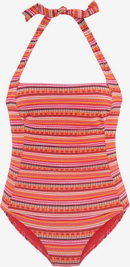 LASCANA Shaping swimsuit in Mixed colours / Orange, Item view