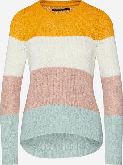 ONLY Strickpullover 'GEENA' in gelb / rosa / weiß, Produktansicht