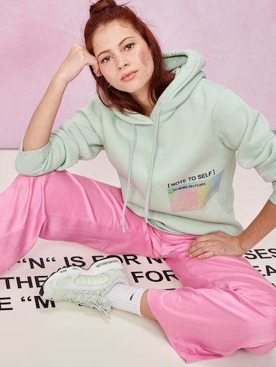 ABOUT YOU x GNTM Hoodie 'Jamie' in mint: Frontalansicht