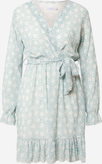 Hailys Robe 'Lina' en jade / blanc, Vue avec produit