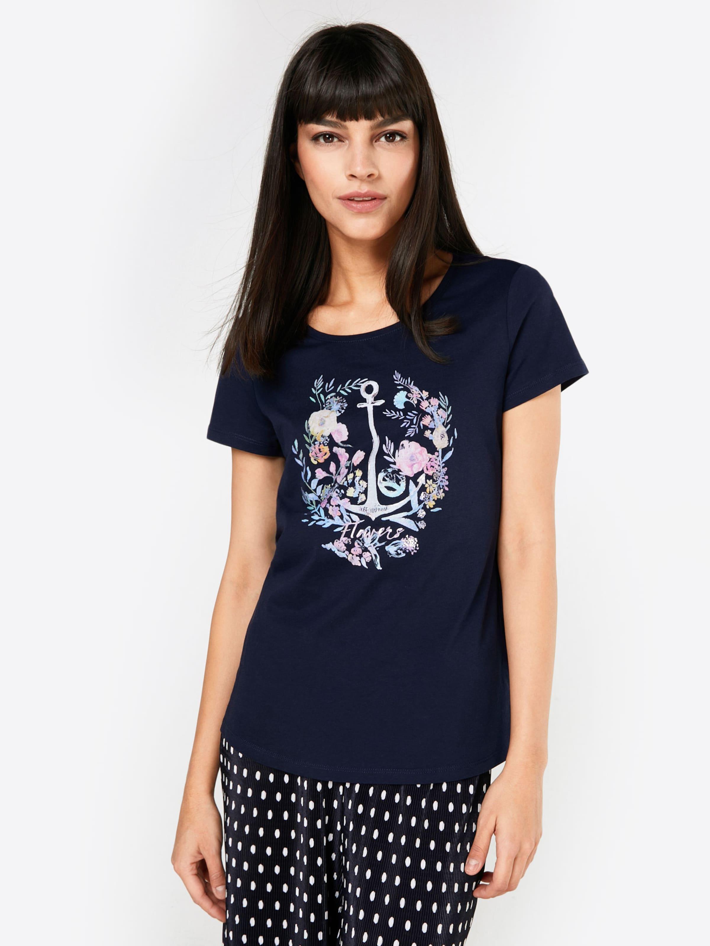 ESPRIT T-Shirt 'Floral Anchor '