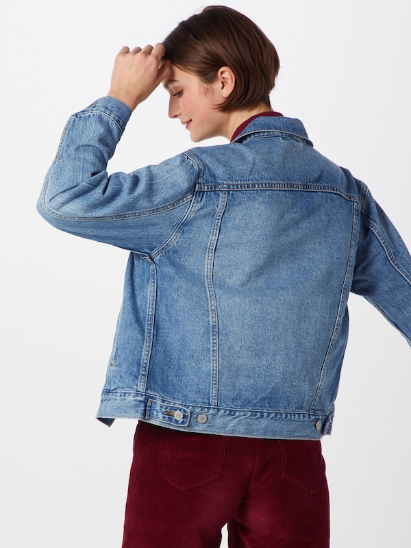 LEVI'S Jacke 'Ex-Boyfriend Trucker' in blue denim: Rückansicht