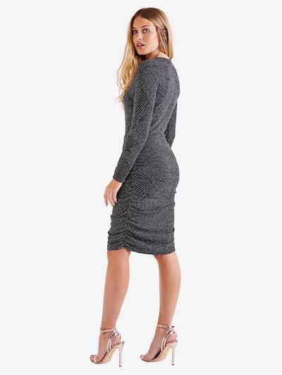 Mela London Obleka 'FRONT RUCHED DRESS' | črna barva: Pogled od zadnje strani
