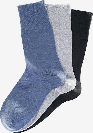 GO IN Socken 'Rogo' in taubenblau / grau / schwarz, Produktansicht