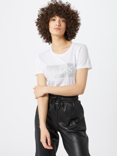 GUESS Shirt in weiß: Frontalansicht