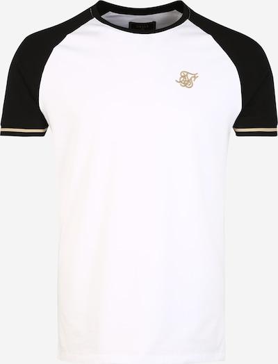 SikSilk Shirt in schwarz / weiß, Produktansicht