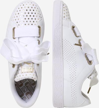PUMA Sneaker 'Basket Heart Ath Lux' in gold / weiß: Seitenansicht