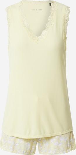 SCHIESSER Korte pyjama in de kleur Lichtgeel / Wit, Productweergave