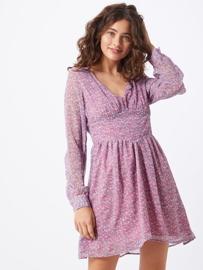 IVYREVEL Kleid 'FLOWY' in blau / rosa, Modelansicht