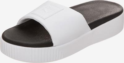 PUMA Pantolette in schwarz / weiß, Produktansicht
