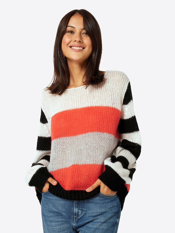 En Talkabout De over CouleursRouge Pull Orangé Noir Mélange trCxsdhQ