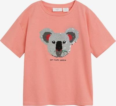 MANGO KIDS Shirt 'WILD' in rosa / schwarz / silber, Produktansicht