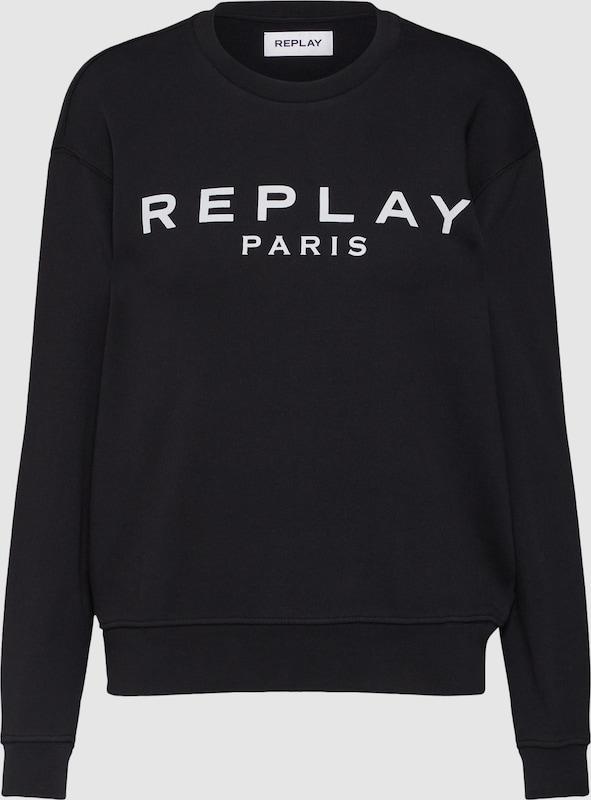 REPLAY Sweatshirt in schwarz   weiß  Neue Kleidung in dieser Saison