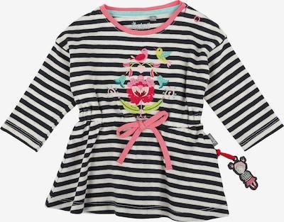 SIGIKID Baby Sweatkleid in aqua / apfel / rosé / rot / schwarz / weiß, Produktansicht